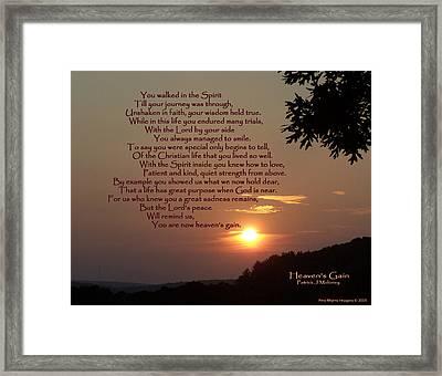Heaven's Gain Framed Print by Patrick J Maloney
