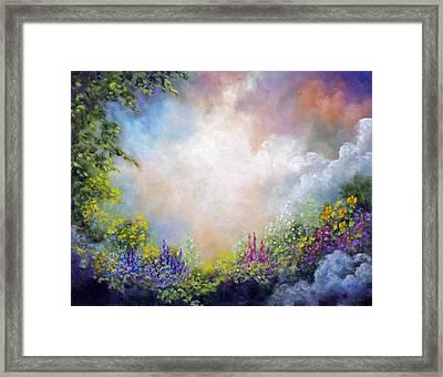 Heaven's Garden Framed Print by Marina Petro
