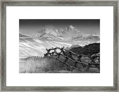 Heavens Gate.. Framed Print