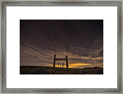 Heaven's Gate Framed Print by Peter Tellone