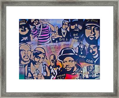 Heavens Ghetto Framed Print by Tony B Conscious