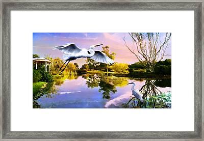 Heavens Lake Framed Print