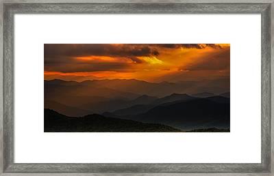 Heaven's Light On The Blue Ridge Parkway Framed Print