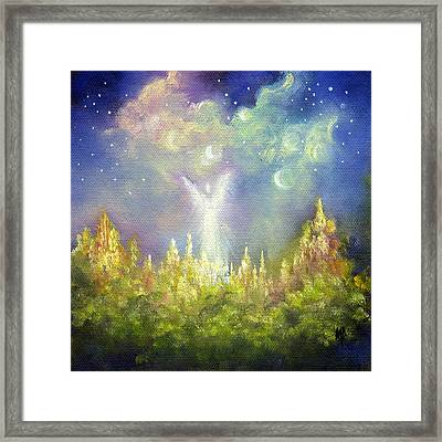 Heaven's Little Angel Framed Print by Marina Petro