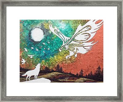 Heaven's Sorrow Framed Print by Amanda Schambon