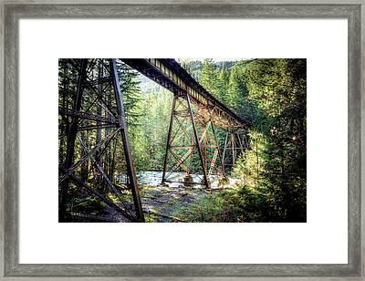 Framed Print featuring the photograph Heavens Tracks by Spencer McDonald