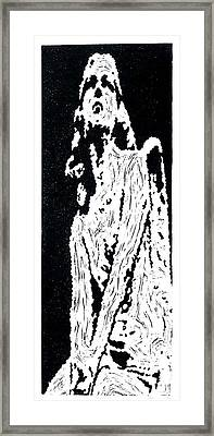 Heavenward --  Hand-pulled  Linoleum Cut Framed Print