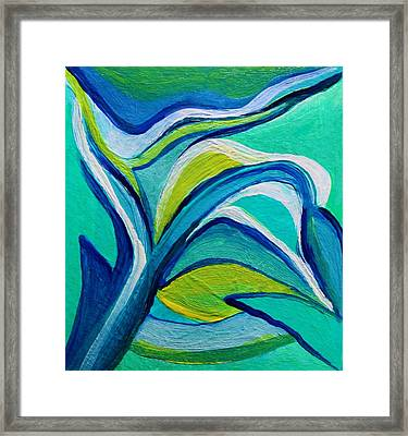 Framed Print featuring the painting Heavy Bud by Polly Castor