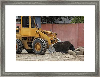 Heavy Construction Equipment Framed Print by Robert Hamm