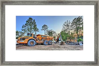 Heavy Equipment Framed Print by JC Findley
