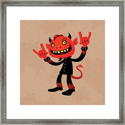 Heavy Metal Devil Framed Print by John Schwegel