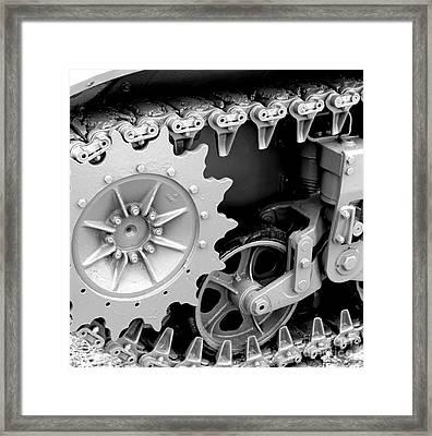 Heavy Metal In Gray Framed Print by Valerie Fuqua
