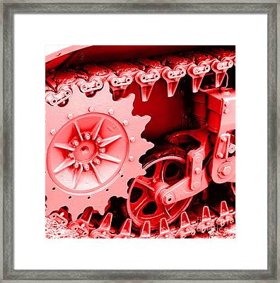 Heavy Metal In Red Framed Print by Valerie Fuqua