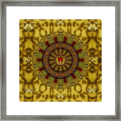 Heavy Metal With A Heart Of A Lion Framed Print