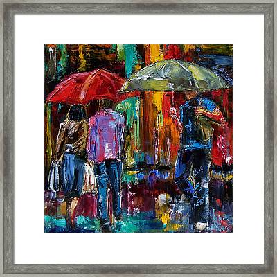 Heavy Rain Framed Print by Debra Hurd
