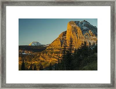 Heavy Runner Mountain Framed Print