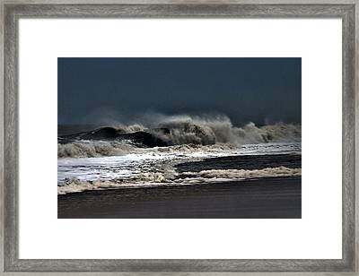 Stormy Surf Framed Print