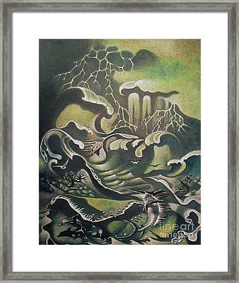 Heavy Water Framed Print