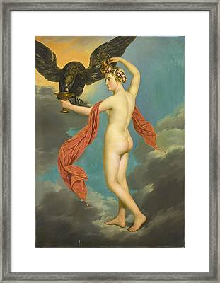 Hebe With Jupiter In The Guise Of An Eagle Framed Print