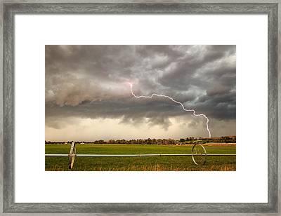 Heber Valley Lightning Strike. Framed Print