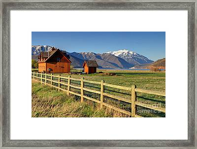 Heber Valley Ranch House - Wasatch Mountains Framed Print