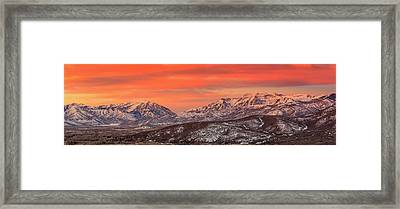 Heber Valley Sunrise Panorama. Framed Print
