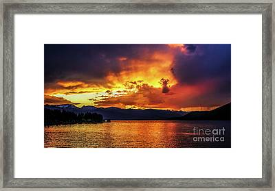 Framed Print featuring the photograph Hebgen Lake Sunset by Jemmy Archer