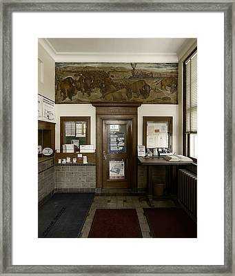 Hebron Nebraska Post Office Mural Framed Print