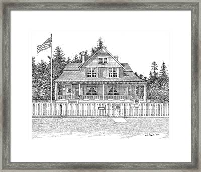 Heceta Head Bed And Breakfast Framed Print