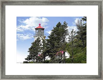 Heceta Head Lighthouse - Oregon's Iconic Pacific Coast Light Framed Print by Christine Till