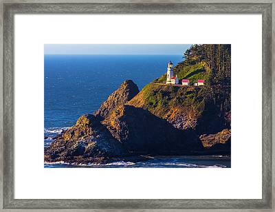 Heceta Head Lighthouse Framed Print by Garry Gay