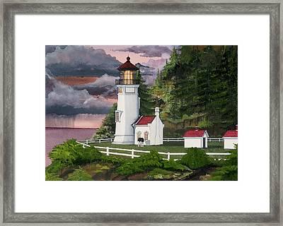 Heceta Head Lighthouse Framed Print by James Lyman