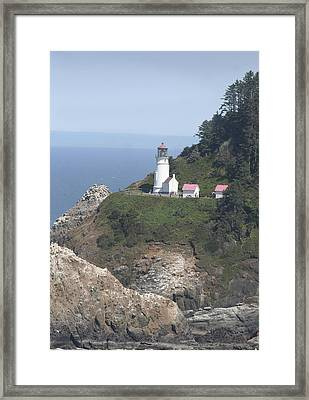 Heceta Head Lighthouse Li 9000 Framed Print by Mary Gaines