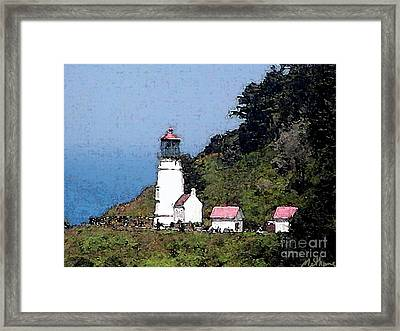 Heceta Head Lighthouse Framed Print by Methune Hively