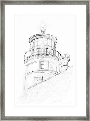 Hecitia Head Lighthouse Sketch Framed Print
