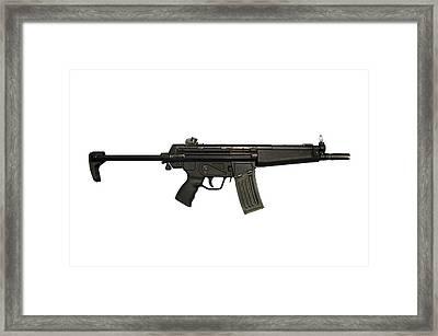 Heckler And Koch Hk53 Submachine Gun Framed Print by Andrew Chittock