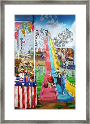 Hecksher Park Fair Framed Print by Bonnie Siracusa