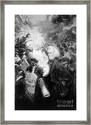 Hector Berlioz, French Composer Framed Print