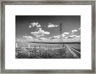 Framed Print featuring the photograph Hedge Laying. by Gary Gillette