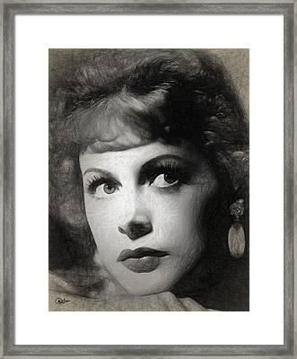 Hedy Lamarr Drawing Framed Print by Quim Abella