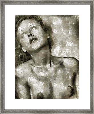 Hedy Lamarr By Mary Bassett Framed Print by Mary Bassett