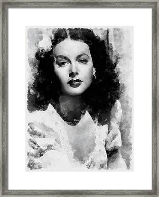 Hedy Lamarr Framed Print by Esoterica Art Agency