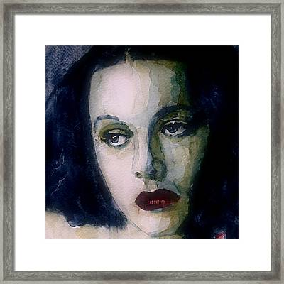 Hedy Lamarr Framed Print by Paul Lovering
