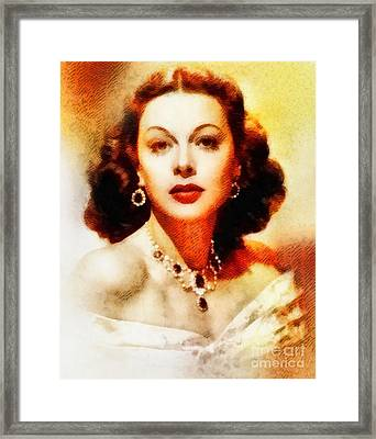 Hedy Lamarr, Vintage Hollywood Actress Framed Print by John Springfield