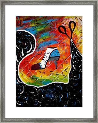 Heel Of Stars Framed Print by Kenal Louis