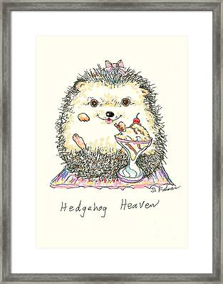 Hedgehog Heaven Framed Print