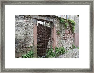 Heidelberg Alley Gate Framed Print