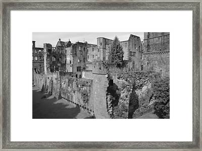 Framed Print featuring the photograph Heidelberg Castle Behind The Scenes by Corinne Rhode