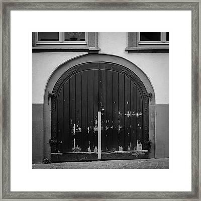 Heidelberg Cellar Door B W Framed Print