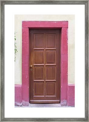 Heidelberg Door 06 Framed Print
